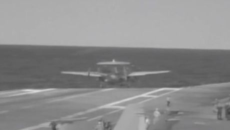 Watch: Pilots Save Plane That Fell Off Aircraft Carrier