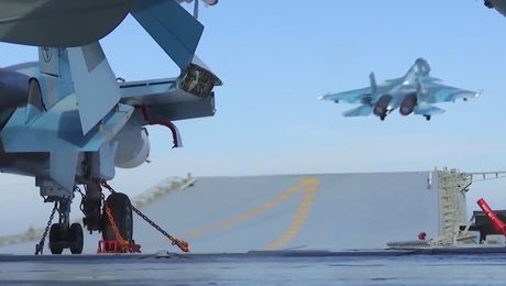 Russia Launches Airstrikes From Admiral Kuznetsov