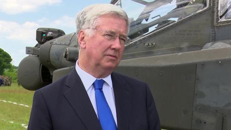 Michael Fallon On Exercise Noble Jump