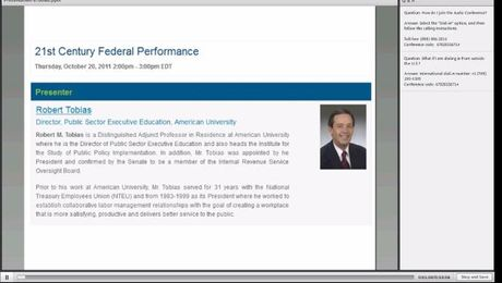 Bob Tobias - 21st Century Federal Performance