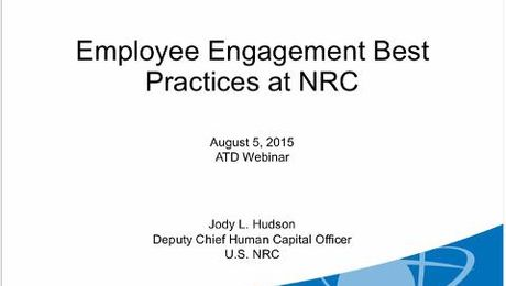 Employee Engagement Best Practices at NRC