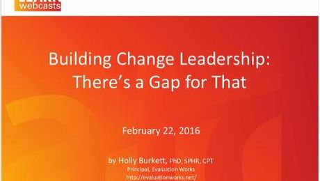 Building Change Leadership There's a Gap for That