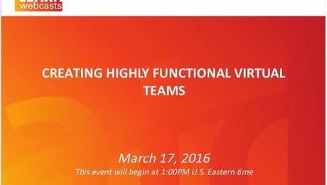 Creating Highly Functional Virtual Teams