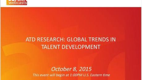 ATD Research: Global Trends in Talent Development