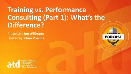 Training vs. Performance Consulting (Part 1): What's the Difference?