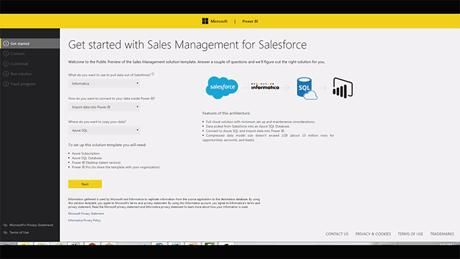 Informatica for Power BI – Sales Management for Salesforce