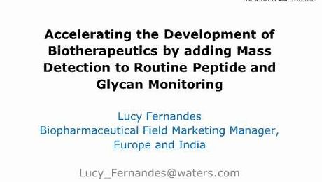 WebCast: Acquity QDa for Peptides and Glycans Monitoring