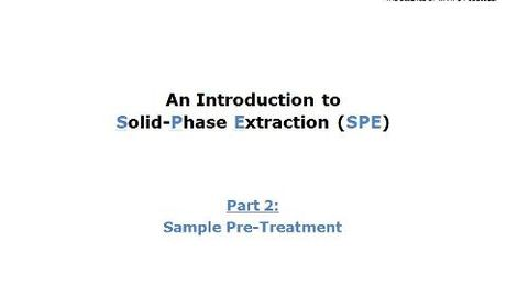 Part 2: Sample Pretreatment