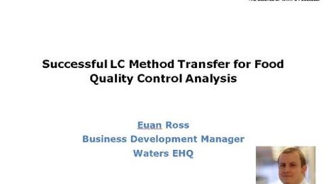 Successful LC Method Transfer for Food Quality Control Analysis
