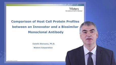 Comparison of host cell protein profiles between an innovator and a biosimilar mAb