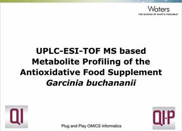 Webinar: UPLC-ESI-TOF-MS based Metabolite Profiling of the Antioxidative Food Supplement Garcinia buchananii