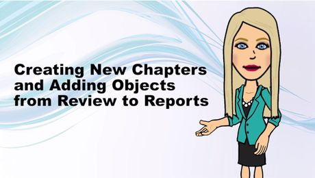 Creating New Chapters and Adding Objects from Review to Reports in UNIFI