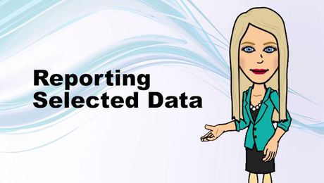 Reporting Selected Data in UNIFI