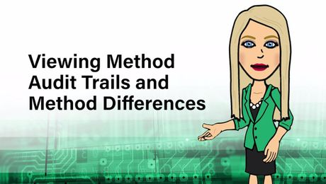 Viewing Method Audit Trails and Method Differences in Empower