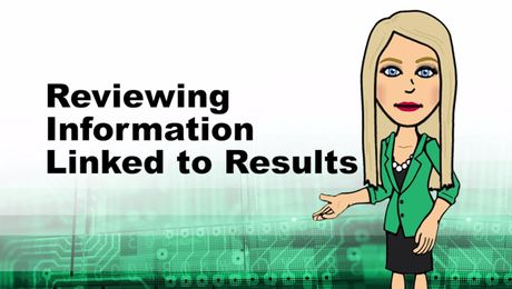 Reviewing Information Linked to Results in Empower