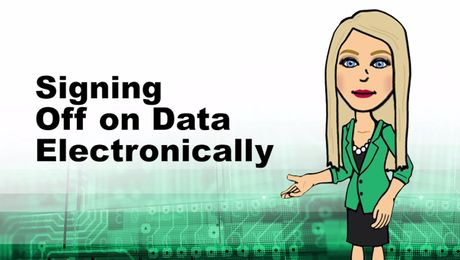 Signing off on Data Electronically in Empower