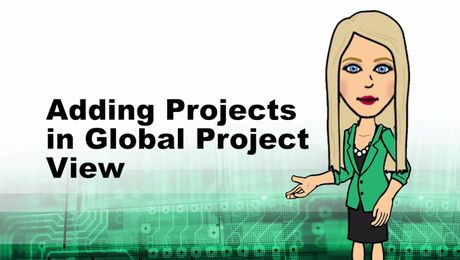 Adding Projects in Global Project View in Empower