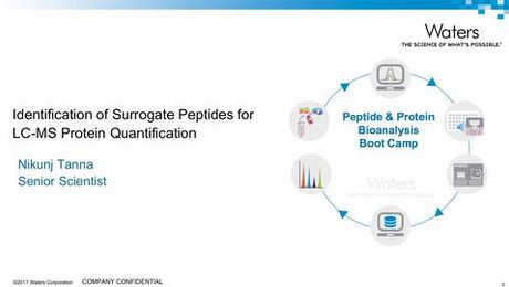Identification of Surrogate Peptides