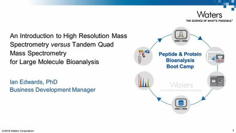 An Introduction to High Resolution Mass Spectrometry versus Tandem Quad Mass Spectrometry for Large Molecule Bioanalysis