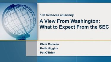 Life Sciences Quarterly (Q3 2017): What to expect from the SEC