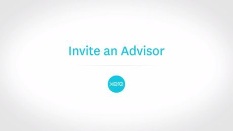 Invite an advisor to Xero