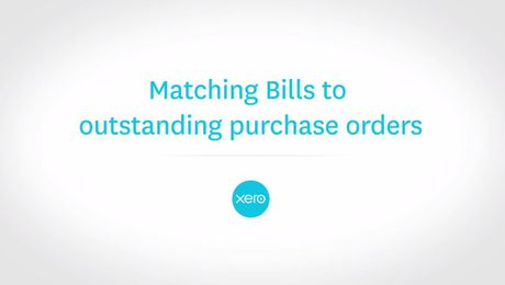 Matching Bills to outstanding purchase orders