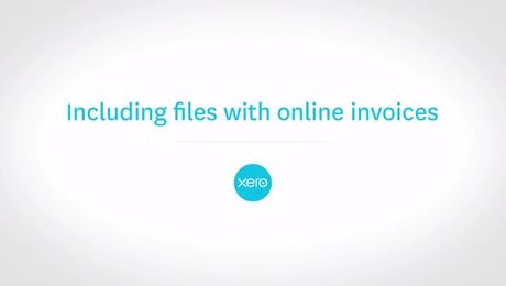 Including files with online invoices in Xero