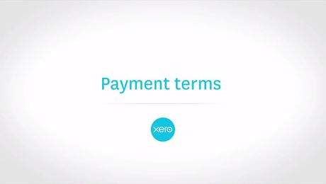 Payment terms in Xero