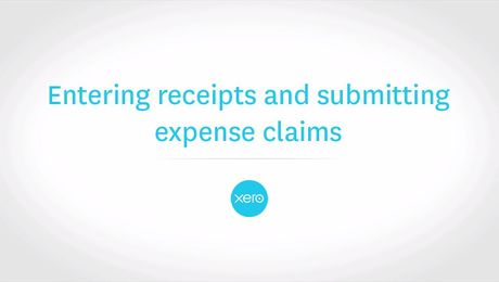 Enter and submit expense claims in Xero