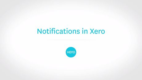 Notifications in Xero