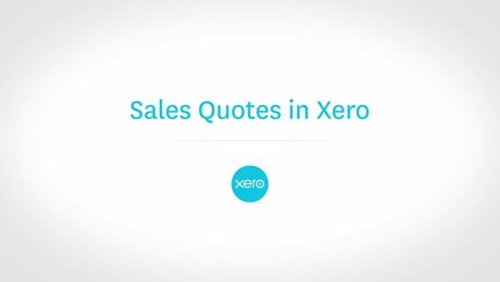Sales Quotes in Xero