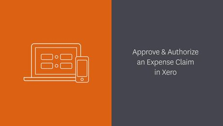 Approve and authorize an expense claim in Xero