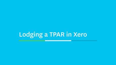 Lodging a TPAR in Xero