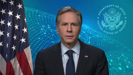 "Secretary Blinken's remarks on the ""Anniversary of Russia's Invasion of Crimea."""