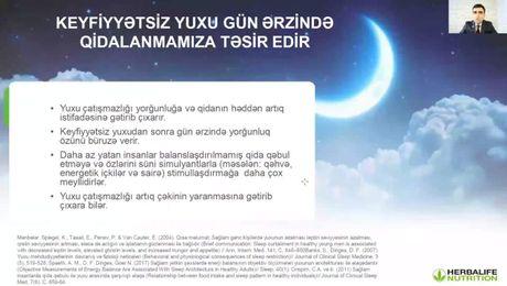 """Vebinar """"Bayramlarda çox yeməmək üçün nə etməli"""" və """"Enerji"""" Məhsul Proqramı"""
