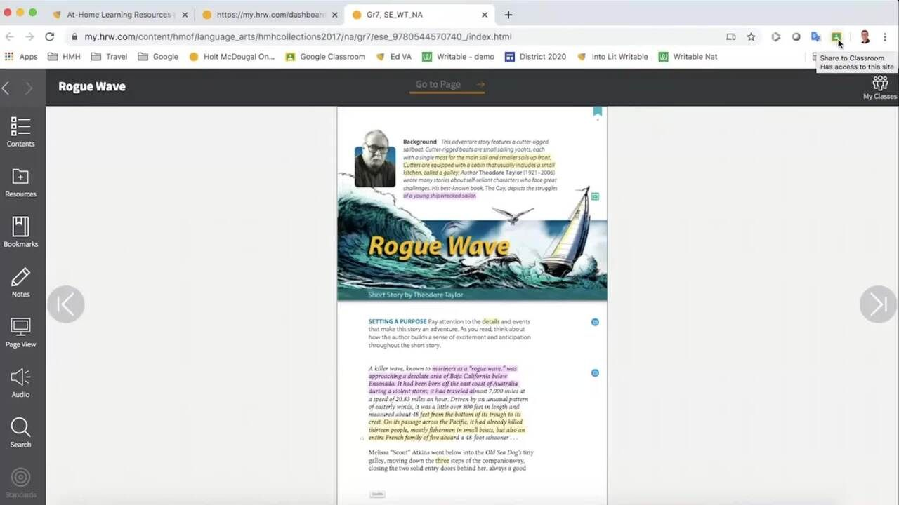 Collections - Assigning Materials in Google Classroom