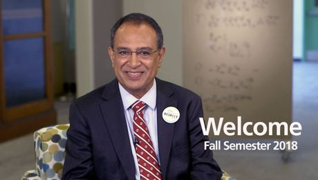 Chancellor's Welcome to the Fall 2018 semester at UMass Amherst