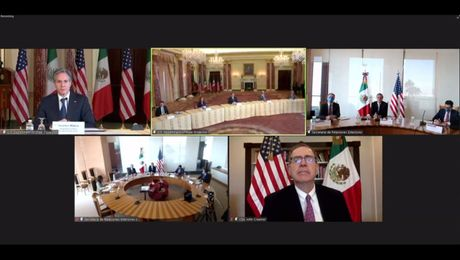 Secretary Blinken meets virtually with Mexican Foreign Secretary Marcelo Ebrard.