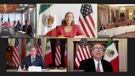 Secretary Blinken meets virtually with Mexican Secretary of Economy Tatiana Clouthier, from the Department of State.