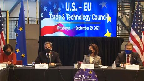 Secretary Blinken participates in a Workforce Management into Tech Jobs Roundtable, in Pittsburgh, Pennsylvania