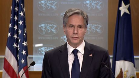 Secretary of State Antony J Blinken delivers remarks to the press on the announcement of a U.S. Refugee Admissions Program Priority 2 Designation for Afghan Nationals