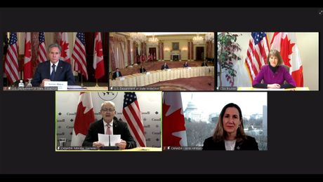 Secretary Blinken meets virtually with Canadian Foreign Minister Marc Garneau.