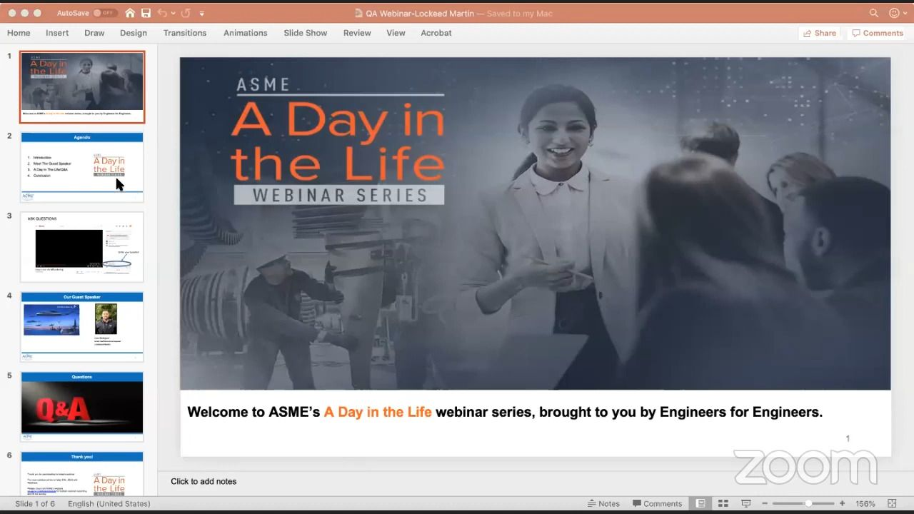 ASME Webinar Series - A Day in The Life of an Engineer Working at Lockheed Martin