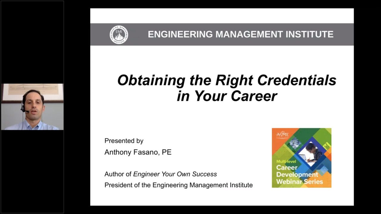 Obtaining the Right Credentials in Your Career
