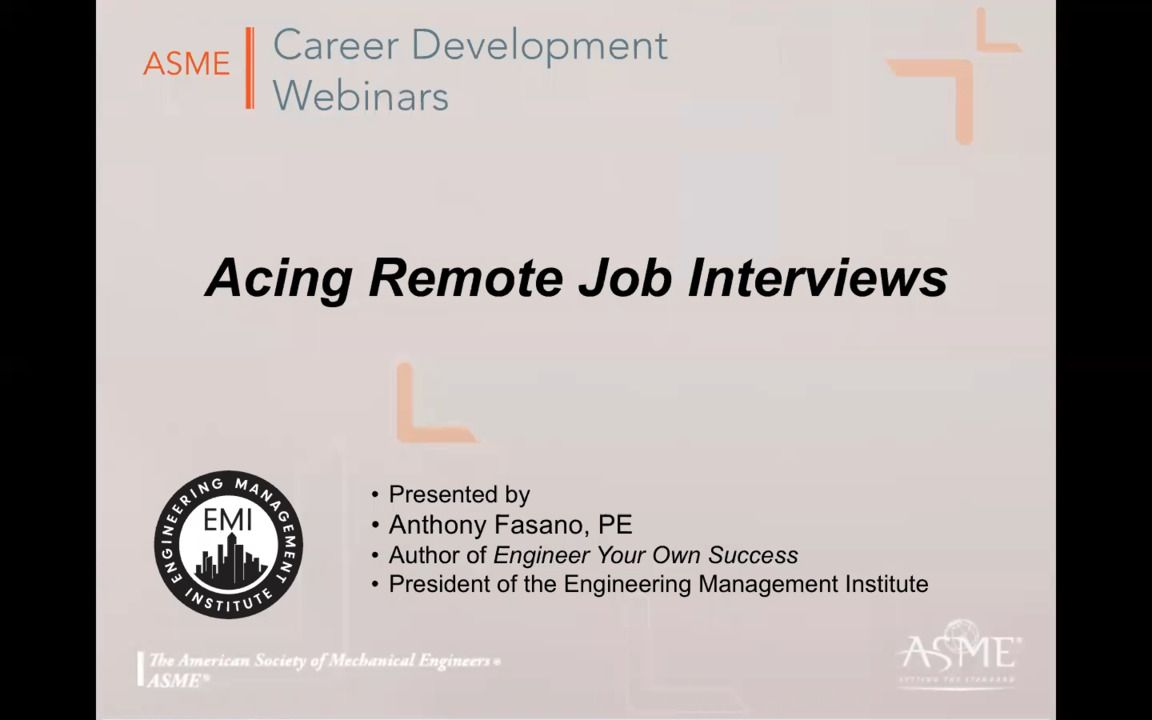 Acing Remote Job Interviews