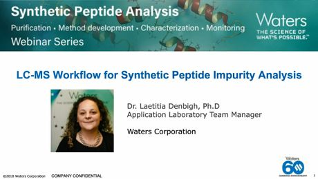 On Demand Webinar | LC-MS Workflow for Synthetic Peptide Impurity Analysis