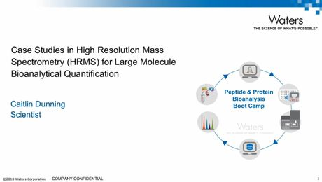 Case Studies in High Resolution Mass Spectrometry (HRMS) for Large Molecule Bioanalytical Quantification