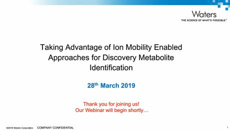 Using ion mobility for easier metabolite identification