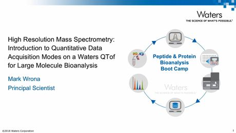 High Resolution Mass Spectrometry: Introduction to Quantitative Data Acquisition Modes on a Waters QTof for Large Molecule Bioanalysis