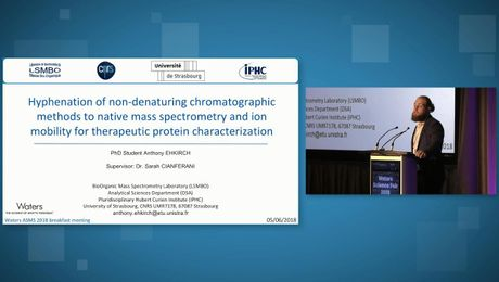 Hyphenation of non-denaturing chromatographic methods to native mass spectrometry and ion mobility for therapeutic protein characterization